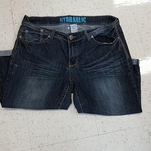 f5a2a4dbd94e2 Hydraulic Jeans - Plus size Hydraulic distressed capris